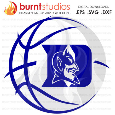 Digital File, Duke University Blue Devils Logo Basketball, Svg, Png, Dxf, Eps file