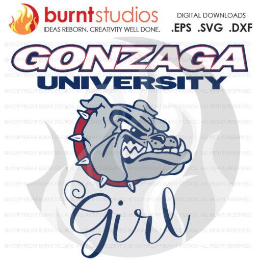 Digital File, Gonzaga Bulldogs Girl, Gonzaga Basketball, Gonzaga Bulldogs, NCAA, Gonzaga Bulldogs Basketball, Svg, Png, Dxf, Eps file