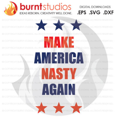 Digital File, Make America Nasty Again, Election, Funny, Nasty, President, Trump, Hillary, Shirt Design, Decal, Svg, Png, Dxf, Eps file
