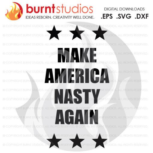 Digital File, Make America Nasty Again, Election, Funny, Nasty, President, Trump, Hillary, Shirt Design, Decal, Svg, Png, Dxf, Eps file
