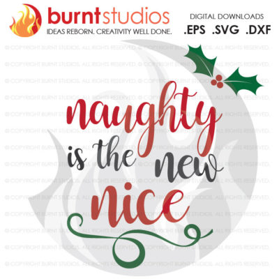 Digital File, Naughty or Nice, Mistletoe, Xmas, Christmas, Shirt Design, Decal Design, Svg, Png, Dxf, Eps file