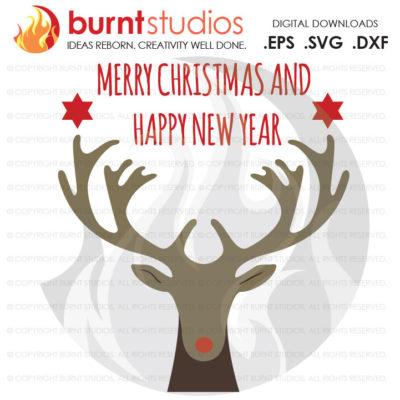 Digital File, Rudolph, Reindeer, Christmas, Santa, Xmas, Deer, Stars, New Year Printable Clip Shirt Decal Design, Svg, Png, Dxf, Eps file