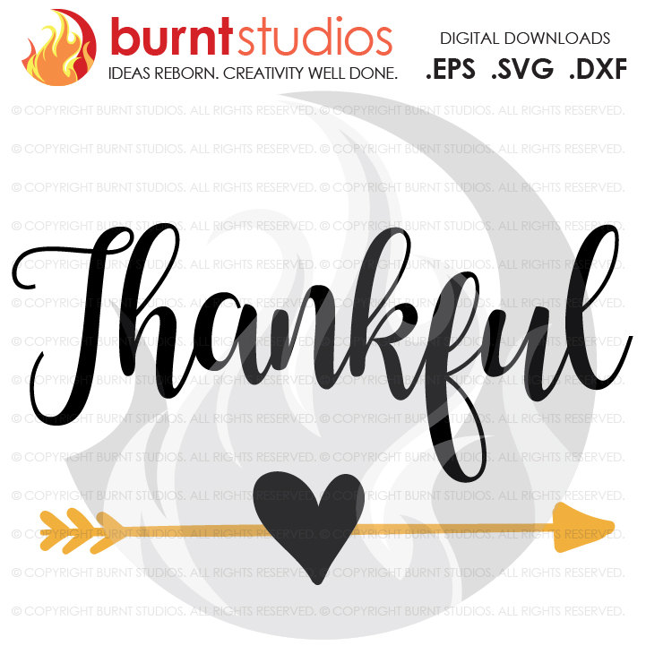 Digital File, Thankful, Thanksgiving, Heart And Arrow, Bohemian, Turkey,  Holiday