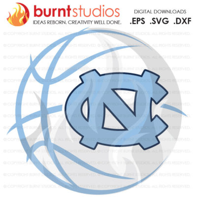 Digital File, UNC Chapel Hill University of North Carolina Logo Basketball Old Well Tar Heels Tar Heel Ram Rams, Svg, Png, Dxf, Eps file
