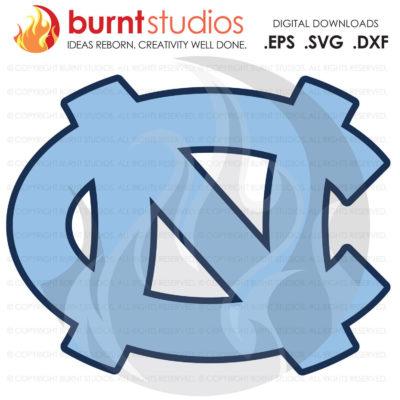 Digital File, UNC Chapel Hill University of North Carolina Logo Basketball Old Well Tar Heels Tar Heel Ram Rams, Svg, Png, Dxf, Eps file