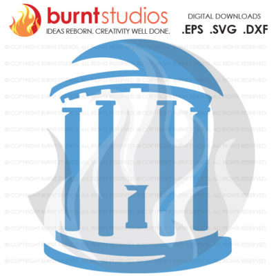 Digital File, UNC Chapel Hill University of North Carolina Old Well Tar Heels Tar Heel Ram Rams, Svg, Png, Dxf, Eps file