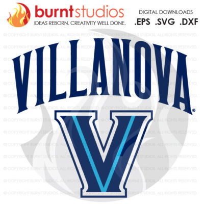 Digital File, Villanova Logo, Villanova Basketball, NCAA, Villanova Wildcats, Villanova University, Svg, Png, Dxf, Eps file