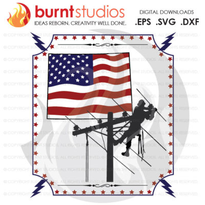 Digital File, Wyoming, Lineman, USA, America, Linemen, Power, Climbing Hooks, Spikes, Gaffs, Design, Decal Design, Svg, Png, Dxf, Eps file