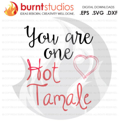 Digital File, You Are One Hot Tamale, Latino, Latina, Mexican, Love, Shirt Design, Decal Design, Svg, Png, Dxf, Eps file