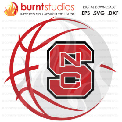 Digital SVG Cutting File, NCSU North Carolina State Wolfpack Logo Basketball, Raleigh, Svg, Png, Dxf, Eps file
