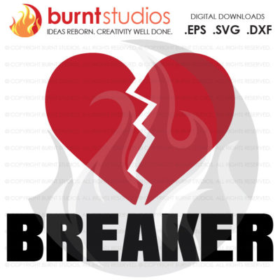 SVG Cutting File, Heart Breaker, Hugs and Kisses, Boys, Girls, Baby's First Valentine's Day, Heart, Love Cupid February 14, Decal, Svg, Png