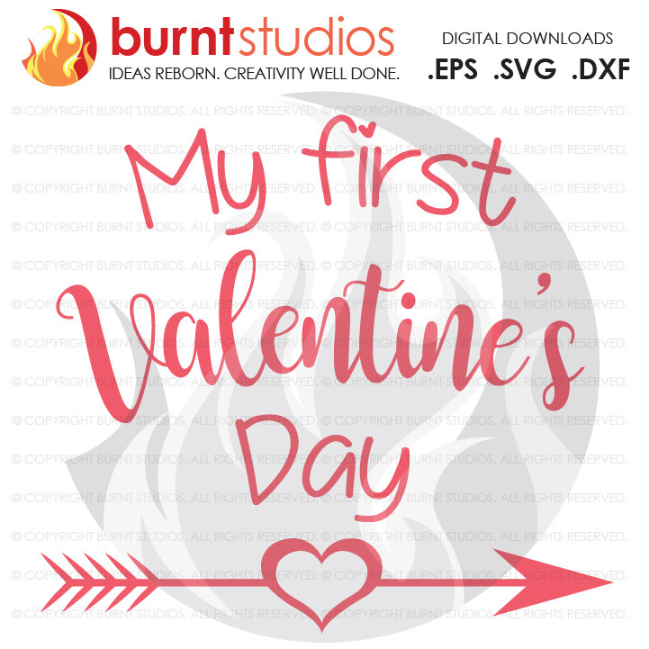 svg cutting file my first valentines day babys first valentines day heart love - First Valentines Day