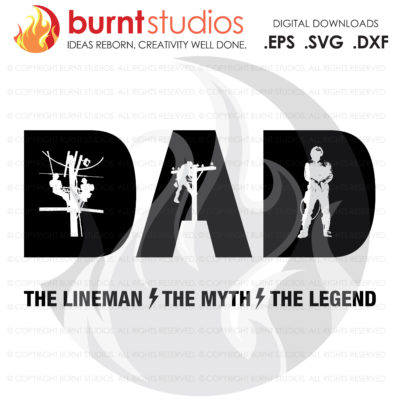 Digital File, Fathers Day Lineman Gift, Linemen, Dad, Power, Climbing Hooks, Spikes, Power Lineman, Gaffs, Lineman SVG, Lineman Decal Art
