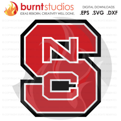 Digital SVG Cutting File, NCSU North Carolina State Wolfpack Logo, College, Basketball, Football, Raleigh, Svg, Png, Dxf, Eps file