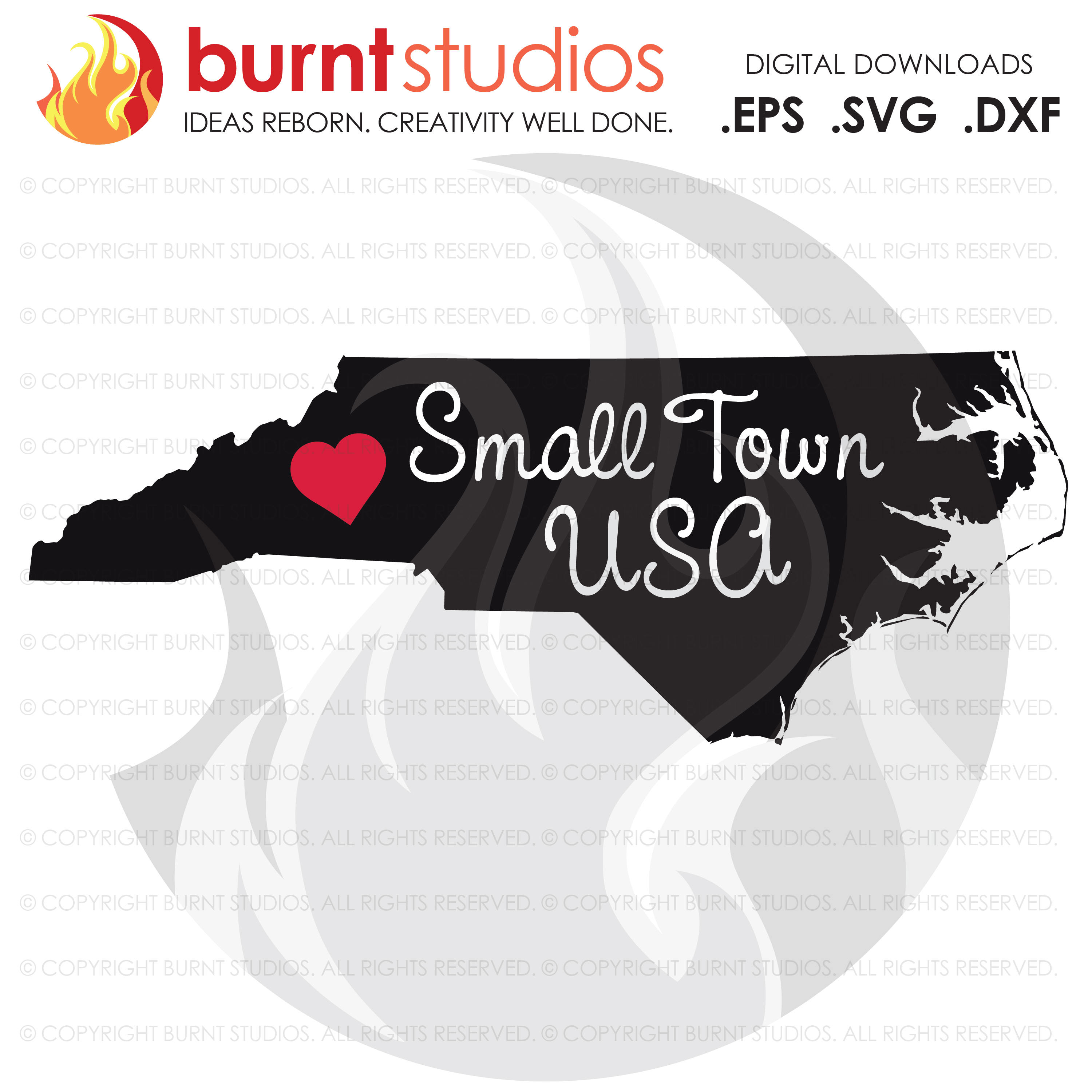 Digital SVG Cutting File, North Carolina State Outline, Local, Small Town USA, Raleigh, Charlotte, Winston Salem, Svg, Png, Dxf, Eps