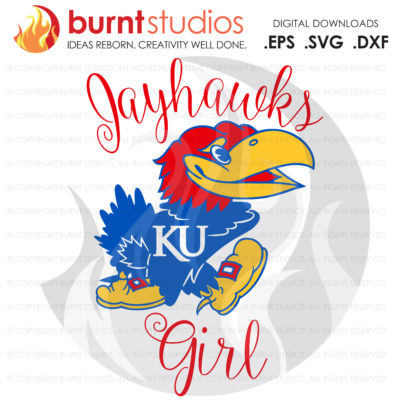 SVG Cutting File, Kansas Jayhawks Girl, KU Basketball, University of Kansas, Hoops, Basketball, Svg, Png, Dxf, Eps file