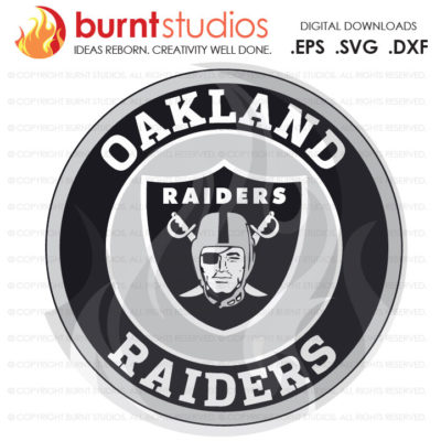 SVG Cutting File, Oakland Raiders Monogram, National Football League, Super Bowl, Football, California, NFL, Png, Dxf, Eps