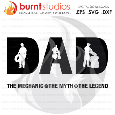 Digital File, Fathers Day Mechanics Gift, Mechanic, Dad, Automotive, Wrench, Mechanic SVG, Mecanic Decal Art