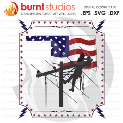 USA, America, Oklahoma, OK, Lineman, Linemen, Power, Climbing Hooks, Spikes, Gaffs,  Shirt Design, Decal Design, Svg, Png, Dxf, Eps file