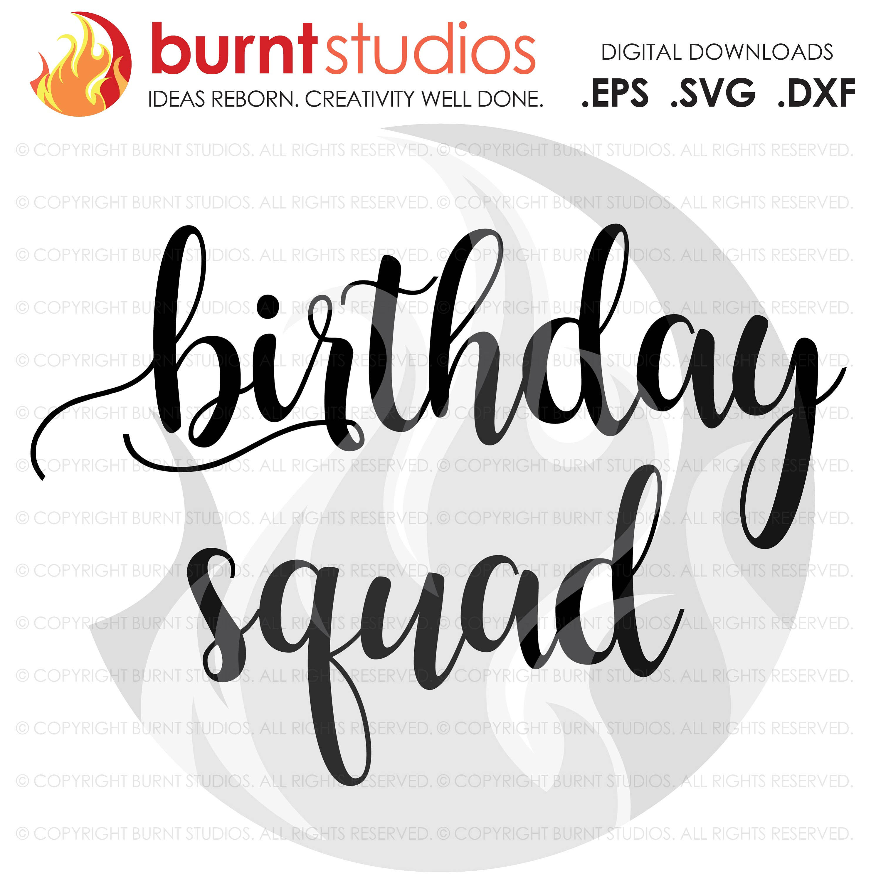 Digital File,Birthday Squad, Birthday, Tween, Ten, Shirt Design, Decal Design, Svg, Png, Dxf, Eps file
