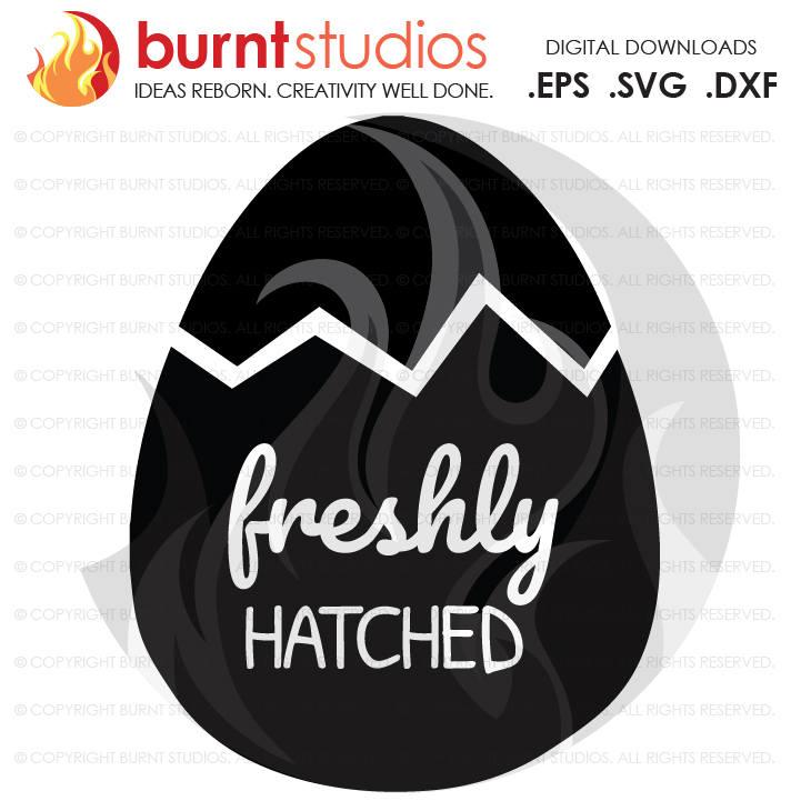 SVG Cutting File, Freshly Hatched, God, Bunny, Easter Egg, Good Friday, Palm Sunday, Baptism, Bible, Jesus, Christian, Faith Cross PNG