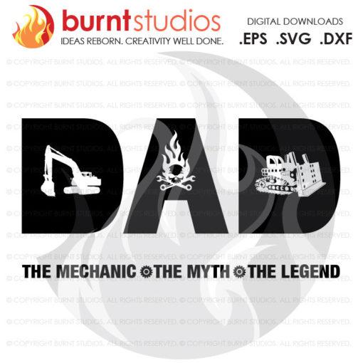 Digital File, Fathers Day Heavy Equipment Mechanics Gift, Machinery Mechanic, Dad, Automotive, Wrench, Mechanic SVG, Mechanic Decal Art