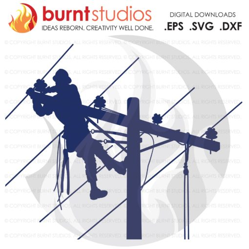 Digital File, Lineman, Linemen, Power, Climbing Hooks, Spikes, Gaffs, Skull,  Shirt Design, Decal Design, Svg, Png, Dxf, Eps file