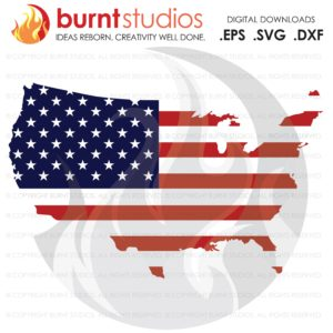 USA American Flag SVG cutting File, Land of The Free, Home of the Brave, 4th of July, Memorial Day, Freedom, United States of America