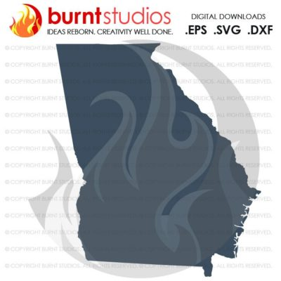 State of Georiga SVG Cutting File, Digital Download, Love, Home, Vector, State Outline, GA, Georgia Bulldogs, Savannah, Atlanta