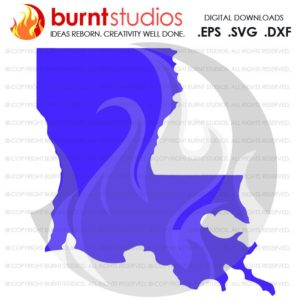 State of Louisiana SVG Cutting File, Digital Download, Love, Home, Vector, State Map Outline, SVG, LSU, New Orleans, Ragin Cajuns, Pelicans