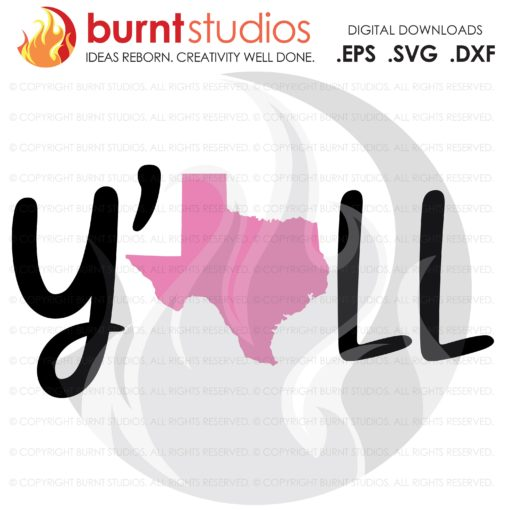 SVG Cutting File, Y'all Texas, Hey, Lonestar State, Dallas, Cowboy, Cowgirl, Boots, Southern, San Antonio, Lubbock, EPS, PNG Clip Art design