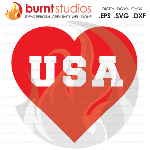 USA Heart, Love America, SVG Cutting File, 4th of July, Memorial Day, Freedom, United States of America, Statue of Liberty, Independence Day