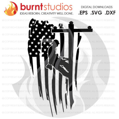 Digital File, USA Flag, United States of America, Linemen, Lineman, Power, Climbing Hooks, Spikes, Gaffs, Decal, Svg, Png, Dxf, Eps file