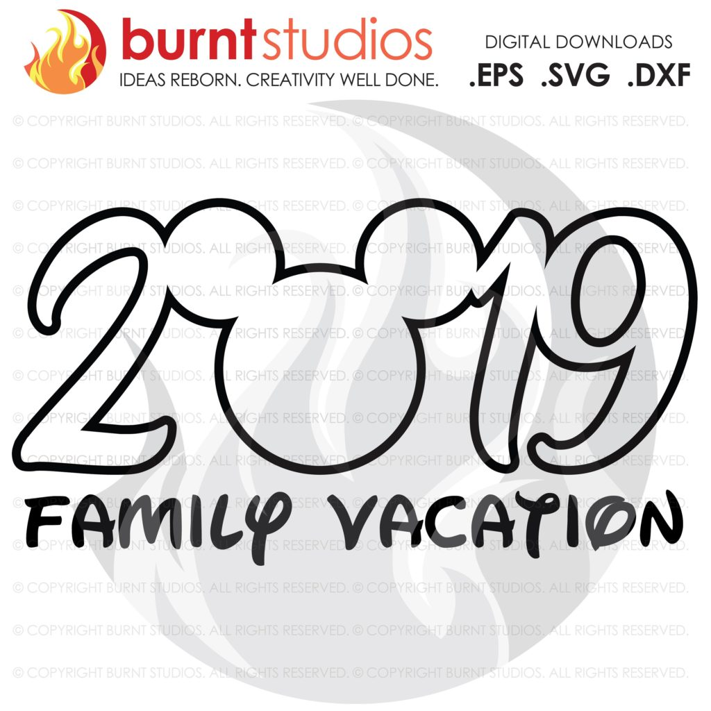 44b08254 SVG Cutting File, 2019 Walt Disney World, Mickey Mouse, Magic Kingdom, Family  Vacation Shirt Design, EPS, PNG, Digital Download, Customize - Burnt Studios