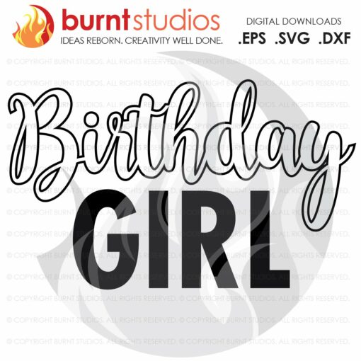 Digital File, Birthday Girl, Birthday Squad, Birthday, Party, Celebration, Tween, Ten, Shirt Design, Decal Design, Svg, Png, Dxf, Eps file