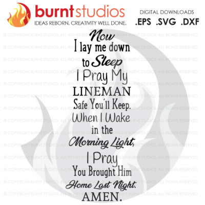 DIGITAL FILE Lineman's Prayer SVG Cutting File, Power Lineman Prayer, Linemen, Lineman, Power, Climbing Hooks, Spikes, Gaffs, Decal artwork