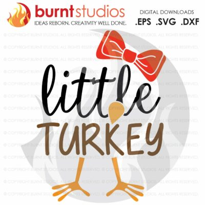 Pretty Little Turkey SVG Cutting File, Thankful, Thanksgiving, Oh Snap, Wishbone, Turkey, Holiday, Shirt Design, Decal Design