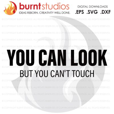 You Can Look, SVG Cutting File, Exercising, Body Building, Health, Lifestyle, Cardio, Fitness, Squats, Digital File, Download, PNG, DXF, eps